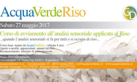Sabato 27 maggio – Corso di avvicinamento all'analisi sensoriale sul riso